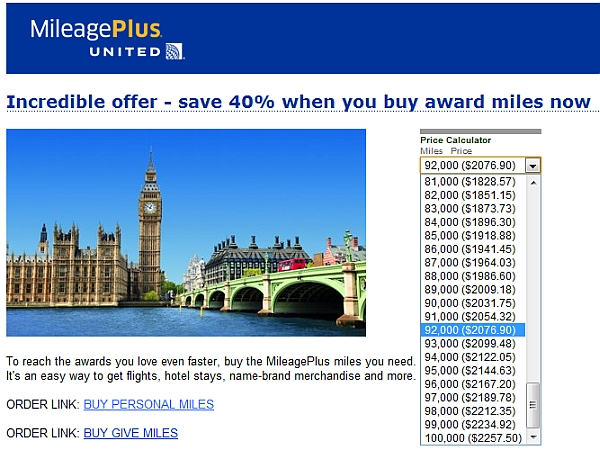 united-mileage-plus-buy-miles