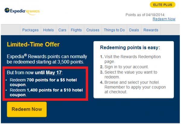 Expedia Rewards Coupons
