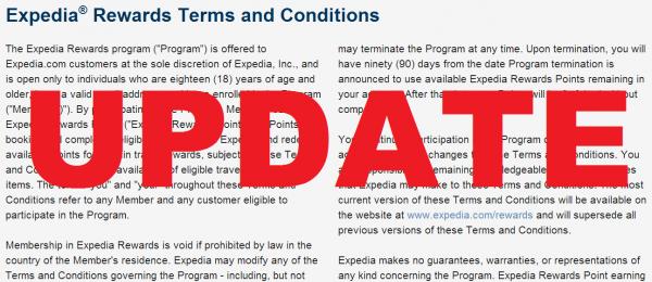 Expedia Rewards Hotel Price Guarantee UPDATE