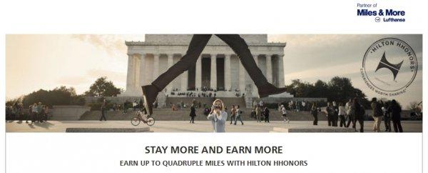 Hilton HHonors Lufthansa Miles&More Up To Quadruple Miles April 1 June 30 2014