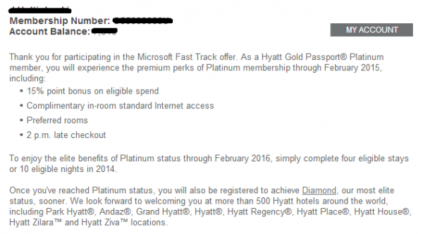 update hyatt gold passport instant platinum valid until february 2015 diamond fast track. Black Bedroom Furniture Sets. Home Design Ideas