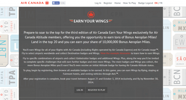 Air Canada Earn Your Wings