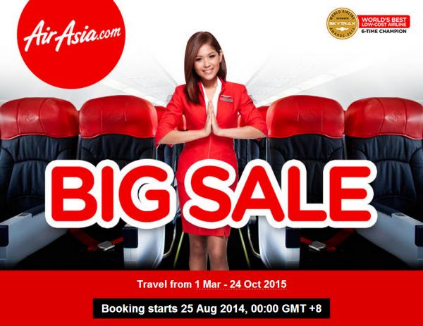 AirAsia Big Sale August 2014