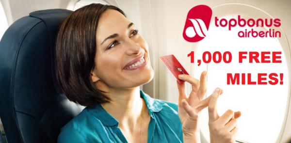 Airberlin Topbonus Heinemann 1000 Free Miles