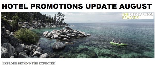 Hotel Promotions Update August 2014