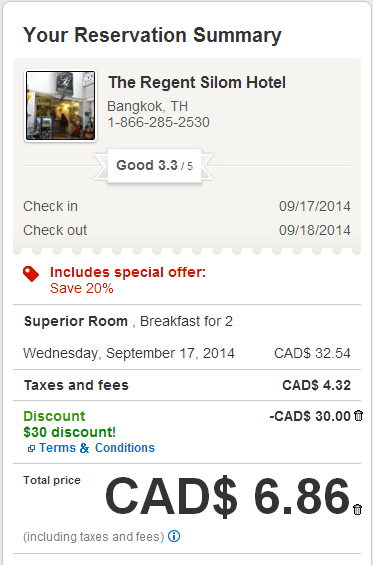 Hotels.com coupon code 1 night