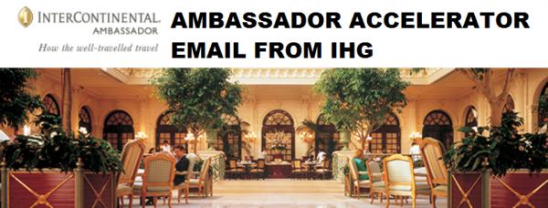 IHG Rewards Club Ambassador Bonus Email