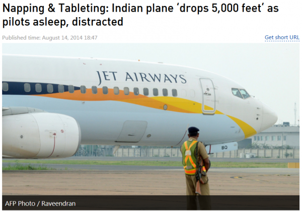 Jet Airways Captains Napping Officer Tableting Plane Drops 5000 Feet