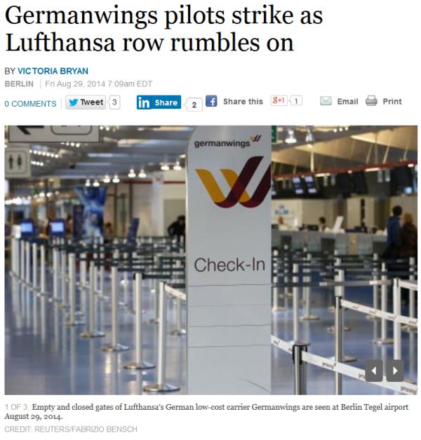 Lufthansa Germanwings Strikes