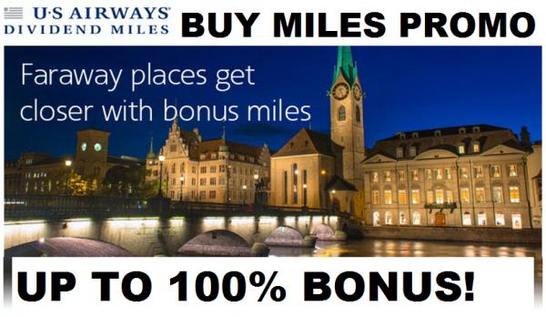US Airways Buy Dividend Miles August 2014 Offer