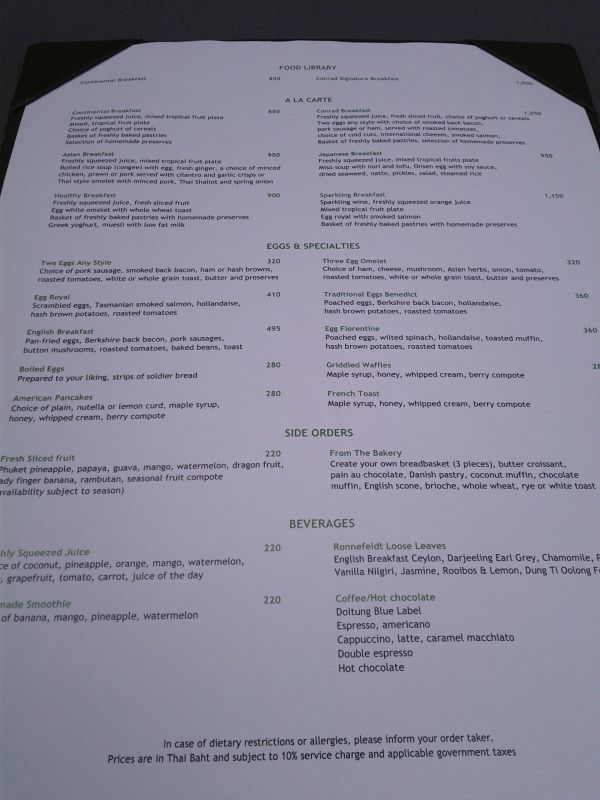 conrad-koh-samui-breakfast-menu