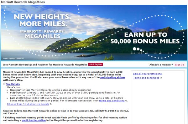 Marriott Rewards Megamiles