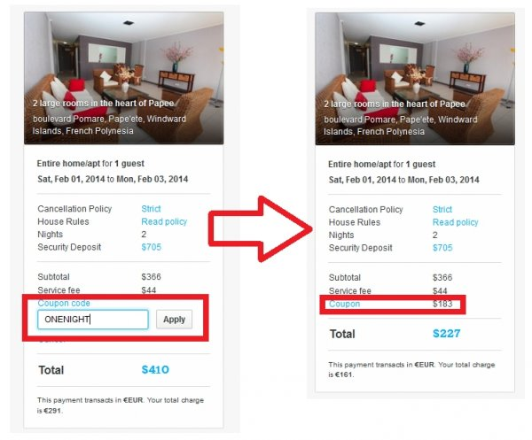 Coupon for airbnb 2018