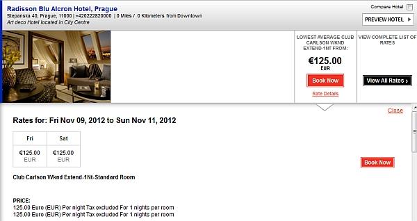 club-carlson-2-for-1-prague-november-price