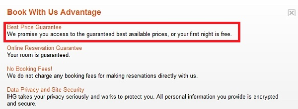 Ihg Best Rate Guarantee Travel Is Free