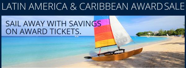 Delta SkyMiles Central America & Caribbean Fall 2014 Award Sale