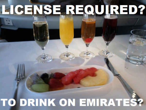 Emirates Licence Required To Drinks On Flights