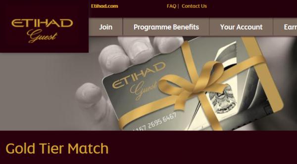 Etihad Gold Tier Match