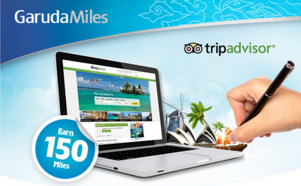 Garuda Indonesia GarudaMiles TripAdvisor Indonesia Offer