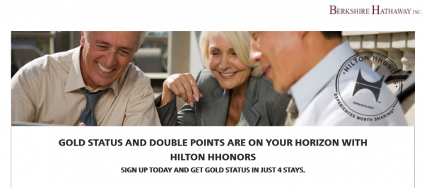 Hilton HHonors Gold Fast Track Offer Berkshire Hathaway