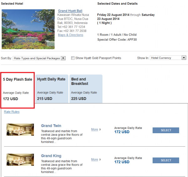 "Hyatt Asia ""Window Of Opportunity"" Up To 30 Off 5-Day Flash Sale For Stays July 16 – August 31, 2014 Grand Hyatt Bali"