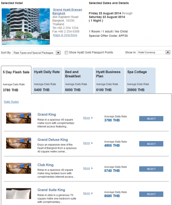"Hyatt Asia ""Window Of Opportunity"" Up To 30 Off 5-Day Flash Sale For Stays July 16 – August 31, 2014 Grand Hyatt Bangkok"