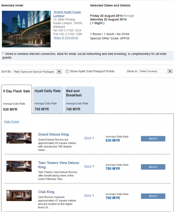 "Hyatt Asia ""Window Of Opportunity"" Up To 30 Off 5-Day Flash Sale For Stays July 16 – August 31, 2014 Grand Hyatt Kuala Lumpur"