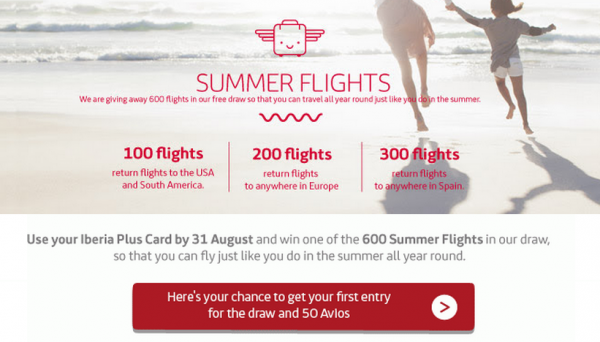 Iberia Plus Summer Flight Promo
