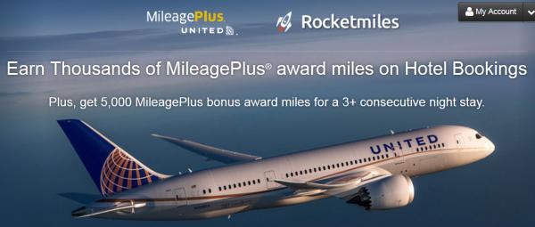 RocketMiles United 5,000 Bonus Miles 3-Nights Stay