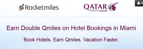 Rocketmiles Qatar Airways Double Miles Miami