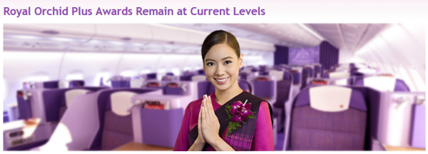Thai Airways Royal Orchid Plus Changes