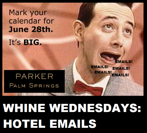 Whine Wednesdays Property Emails