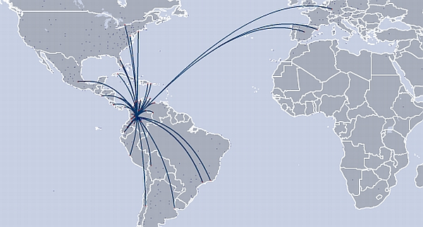 avianca-route-map