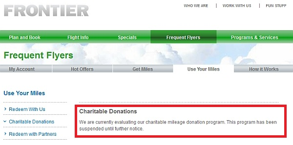 frontier-donation-suspension