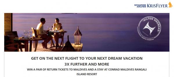 Hilton HHonors Singapore Airlines KrisFlyer Double Triple Miles Offer 2014