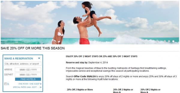 Hyatt Summer Sale 2014