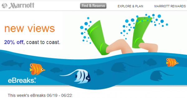 Marriott eBreaks June 19 - 22 2014
