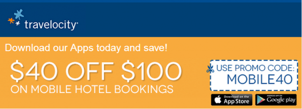 Travelocity $40 Off $100