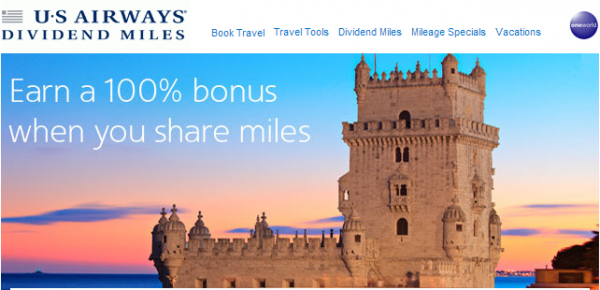 US Airways Share Dividend Miles June 2014 Promotion