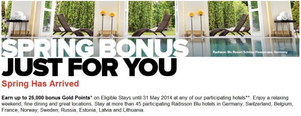 Club Carlson Spring 2014 Europe Promotion