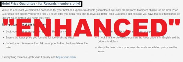 Expedia Rewards Hotel Price Guarantee March 2014 Update