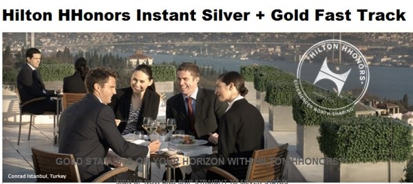 Hilton HHonors Instant Silver + Gold Fast Track Accenture Main
