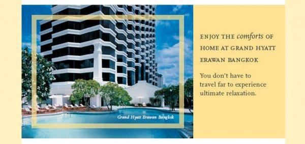 Hyatt Grand Hyatt Bangkok Erewan Offer