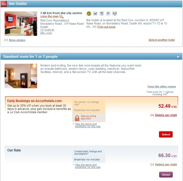 Le Club Accorhotels UK Ireland 3X Points Ibis Dublin