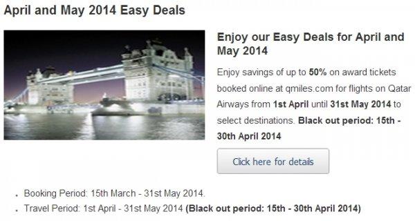 Qatar Easy Deals April May 2014