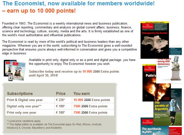 SAS Eurobonus The Economist U