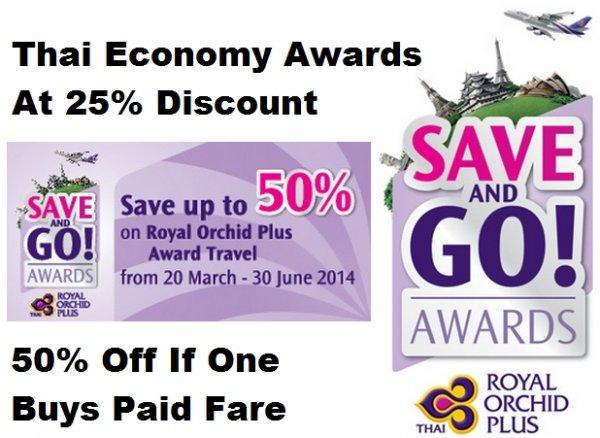 Thai Airways ROS Award Discount