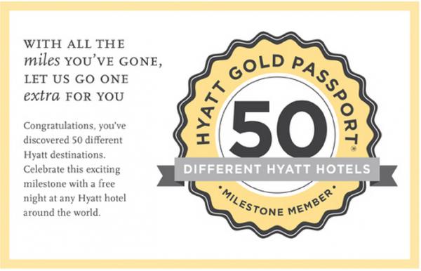Hyatt Gold Passport Milestone Email 2014