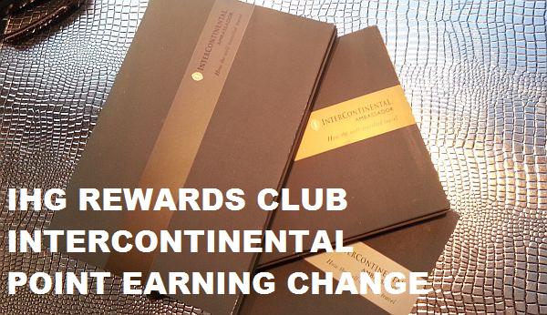 IHG Rewards Club Ambassador Earning Change