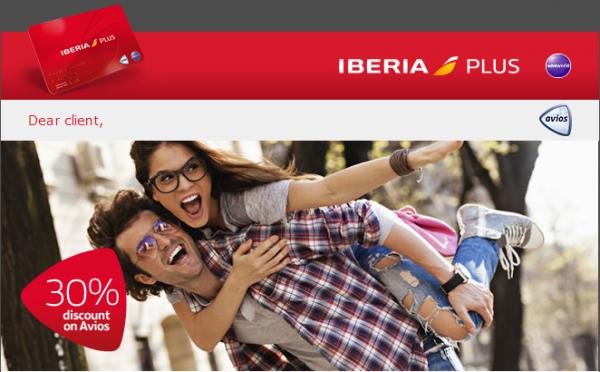 Iberia Plus Avios Discount April 28 June 30 2014